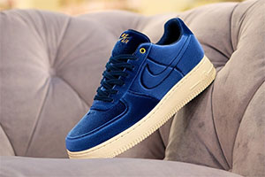 air force 1 velour bleu