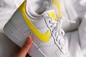 Nike Air Force 1 White Yellow crepsource