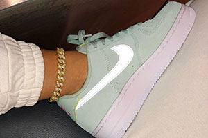 Nike Air Force 1 Mint Suede Reflective