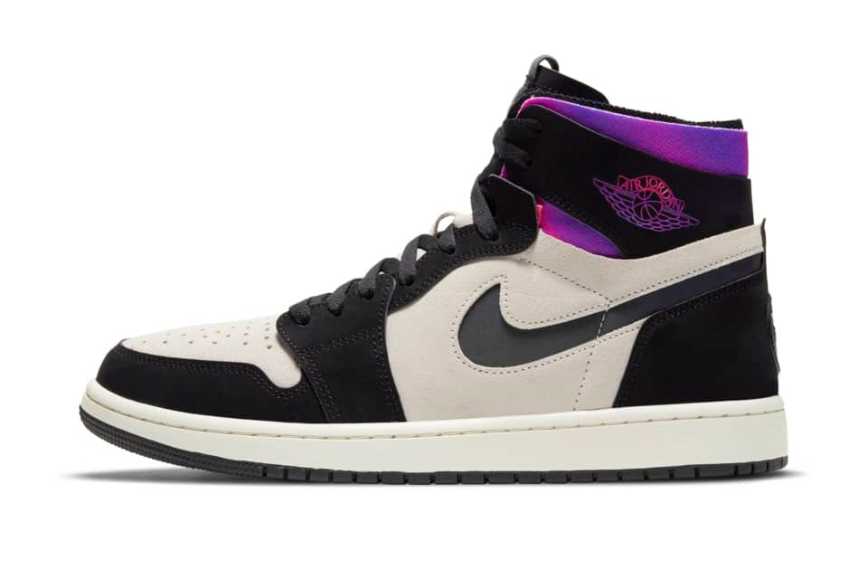 image of Air Jordan 1 Zoom Cmfrt x Paris Saint-Germain White/Psychic Purple/Hyper Pink/Black