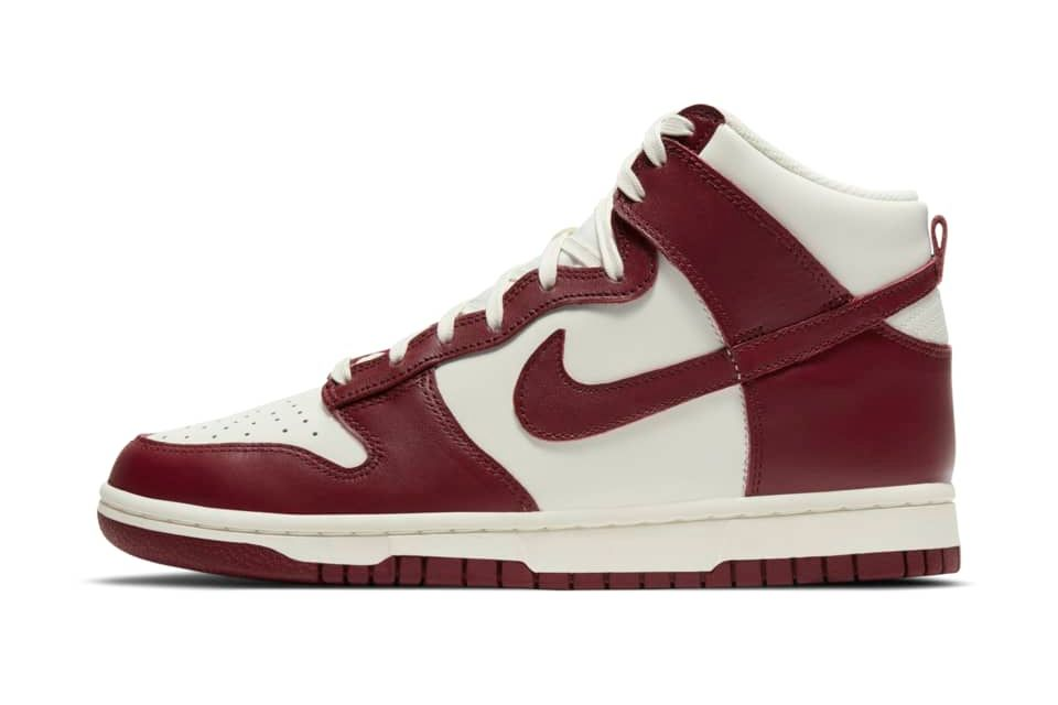 image of Nike Dunk High Sail/Pale Ivory/Team Red