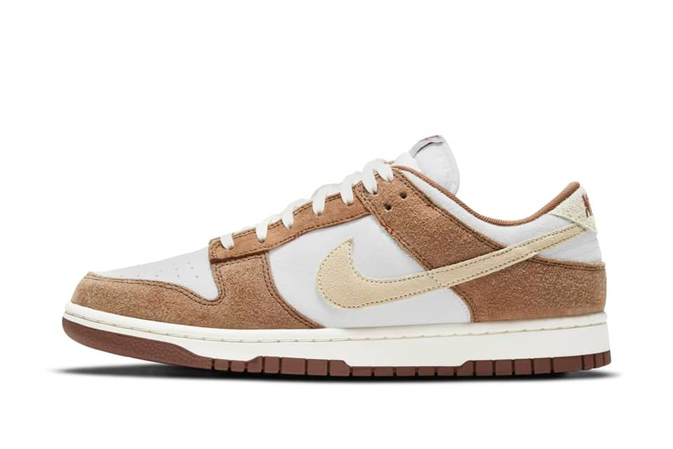 image of Nike Dunk Low Retro Premium Sail/Medium Curry/Fossil