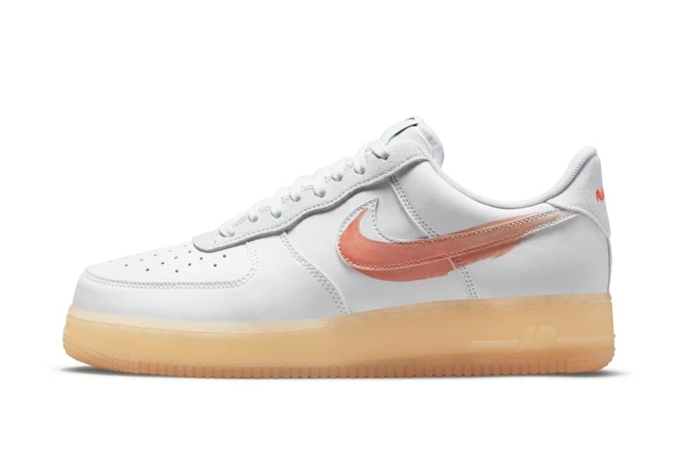image of Nike Flyleather Air Force 1 White/White/White