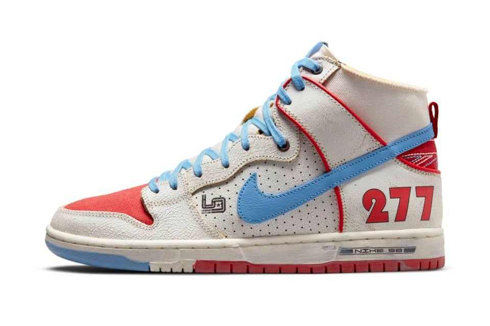 image of Nike SB Dunk High Pro Decon Sail/Track Red/Blue Beyond