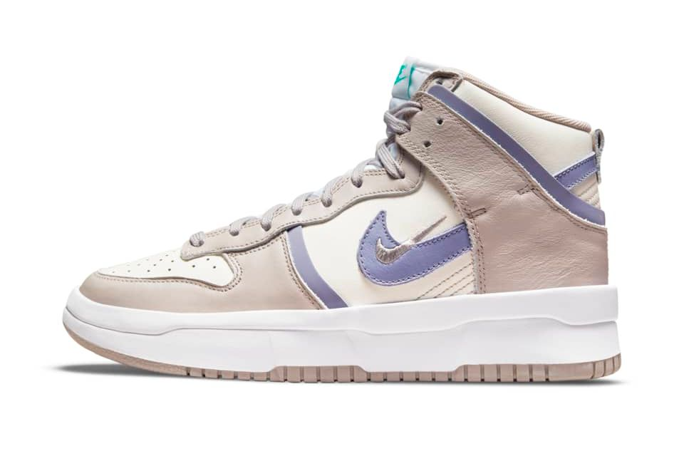 image of Nike Dunk High Up Sail/College Grey/Clear Emerald/Iron Purple