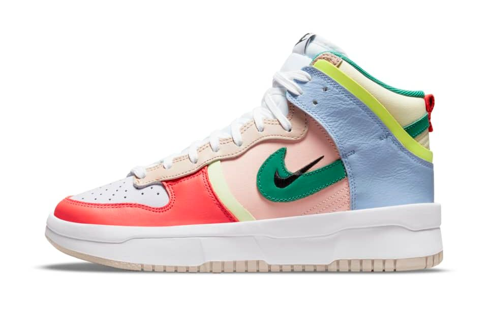 image of Nike Dunk High Rebel Cashmere/Pale Coral/Pure Violet/Green Noise