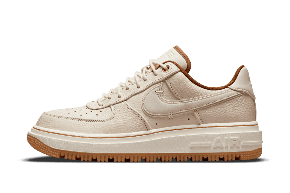 image of Nike Air Force 1 Luxe Pearl White/Pecan/Gum Yellow/Pale Ivory