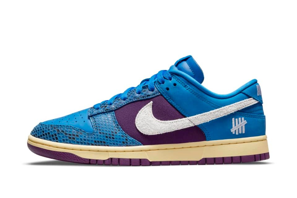 Nike Dunk Low x UNDEFEATED Signal Blue/Night Purple/Butter/White