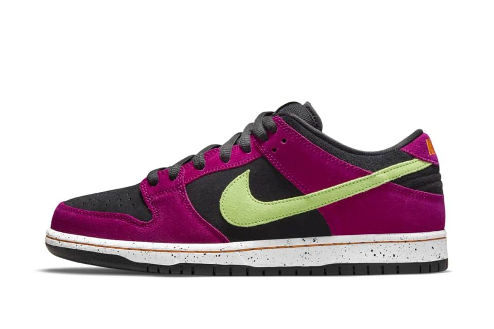 image of Nike SB Dunk Low Pro Red Plum/Black/Taxi/Citron
